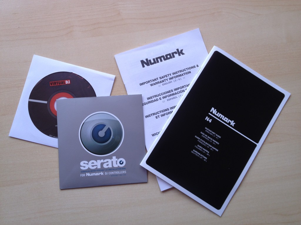 Numark N4 manual and CDs