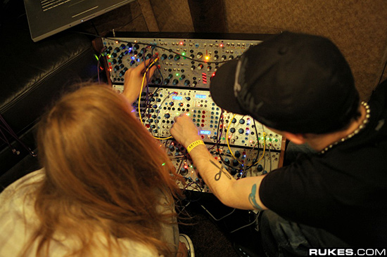 Deadmau5 working his Buchla Modular