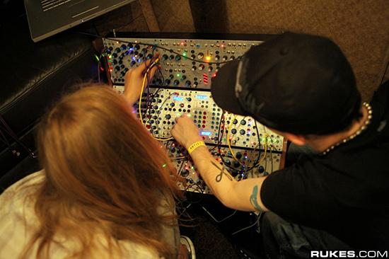Deadmau5 working his Buchla Modular