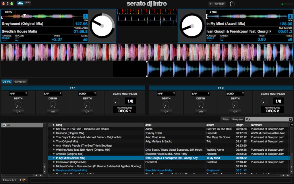 Serato DJ Intro effects